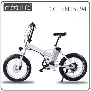 Venta caliente de la marca MOTORLIFE / OEM 36v 250w bicicleta de 20 pulgadas de grasa en bicicleta eléctrica
