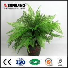 Planta de helecho artificial verde protegida UV para la decoración del museo de dinosaurios