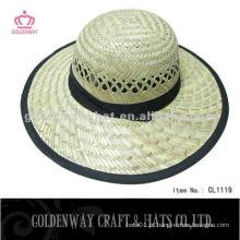Chapéu de palha redondo redondo de moda