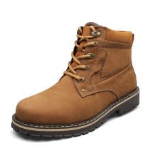 warm fur inside genuine leather upper men's winter snow boots shoes