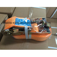 High Tenacity Lashing Tie Down Belt/Ratchet Strap with CE SGS ISO Approved