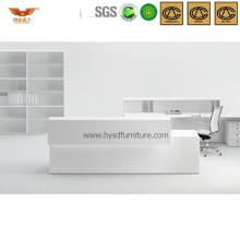 Popular Morden White Wooden Front Desk Reception Desk Office Furniture (HY-Q38)