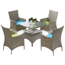 PE rattan outdoor furniture wicker garden dining sets table and chair