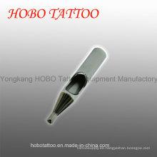 Puntas de tatuaje cortas de acero inoxidable no desechables y duraderas