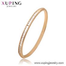 52173 Xuping China al por mayor brazalete de la manera de piedras preciosas de oro plateado para las mujeres
