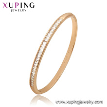 52173 Xuping China Wholesale gold plated gemstone fashion bangle for women