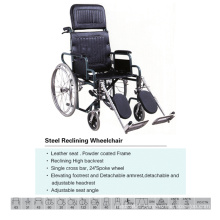 Commode High Back Wheelchair