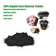 Dientes naturales que blanquean el polvo de carbón de coco carbón de bambú