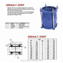 Junta Gibault de hierro dúctil (utilizada para tubería de pvc o tubería de acero)
