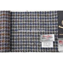 Free Sample women's dress tweed fabric in houdstooth design