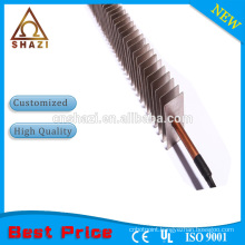 finned convection air heater heating element