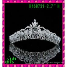 Neue Entwürfe Festzug-Sternart und weise Rhinestone-Schmucksache-Krone eine Tiara