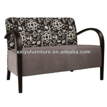 Soild madeira com tampa de tecido 2 lugares sofá do hotel XY3376