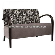 Soild древесина с тканевым покрытием 2-местный диван-кровать для офиса XY3376