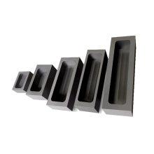Custom shape graphite ingot mold for gold strip melting carbon crucible