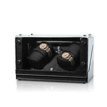 Twee rotoren Watch Winder met acrylvenster