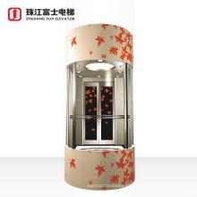 ZhuJiangFuJi Brand Observation Lift Panoramic Elevator Cost sight seeing elevator