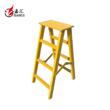 Fiberglass FRP insulation 3 step ladder with handrail