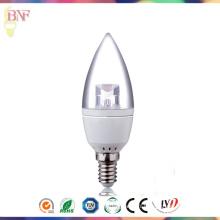 Ampoule bon marché de bougie d'usine de C37 LED de lumière du jour avec la lumière du jour E14