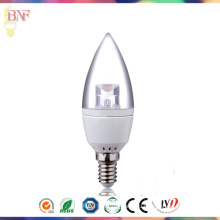 Дешевые Transparement С37 Фабрика СИД Лампа Свеча Е14 дневного света