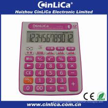 12 digits dual power desk calculator with alarm clock TA-373