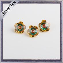 Flor 7X7mm Piedra de zirconia cúbica brillante de colores mezclados populares