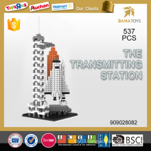Educational toy The transmitting station diy building block