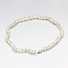 Snh 7-8mm Round Shape AA- Creme Bridal Pearl Necklace