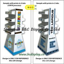 Cardboard Wallet′s Display, Cardboard Floor Displays Cardboard Display Stand Withe Shelf (B&C-A051)