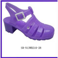 La sandalia de la jalea del pvc de los zapatos de las sandalias de la jalea de las mujeres de SR-N13WR210-28fashion calza las sandalias plásticas de la jalea del pvc de las mujeres del alto talón