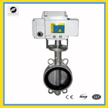 """4"""" stainless steel electric butterfly valve 24v wafer type 220v 50HZ rubber seal"""