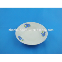 8inch ceramic cheap soup plate exported to africa market