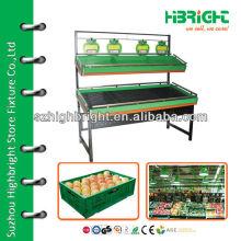 Supermarkt Obst und Gemüse Regale
