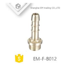 EM-F-B012 rosca macho adaptador de cabeça de pagode de bronze cromado encaixe de tubulação