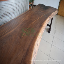 Black Walnut Solid Surface Table Top with Steel Underneath