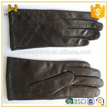 Senhoras luvas fábrica personalizar 100% genuína pele de carneiro luvas de couro da mão