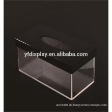Rechteck Acryl Clear Aufbewahrungsbox für Hotel