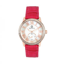 Women's leather strap quartz watches