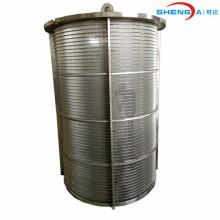 Tubería de malla de alambre de cuña de alta calidad de acero inoxidable