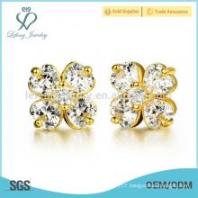 18k gold plated flower earrings,copper stud earrings jewelry