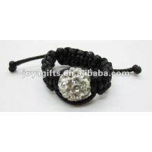 10mm bola de cristal shamballa anéis bonito