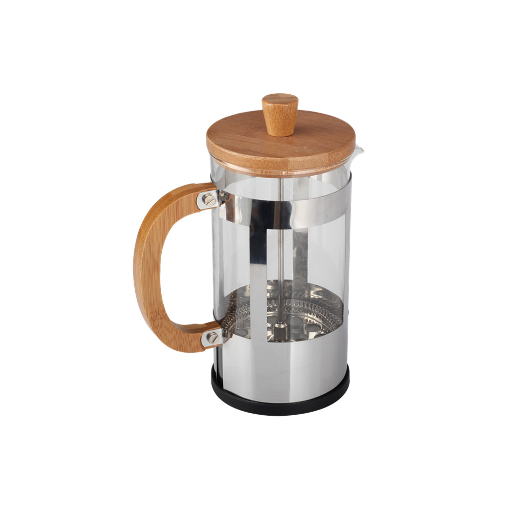 Wooden Handle Glass French Press