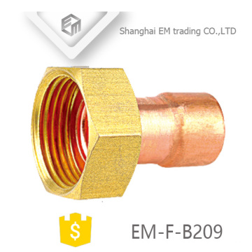 EM-F-B209 Hexagom head female copper nipple pipe fitting
