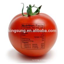 Etiqueta engomada adhesiva impresa de la etiqueta de la comida para las frutas y verduras