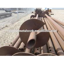 Pilares de hormigón helicoidal de acero