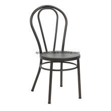 Chaise en métal fer tabouret rond fauteuil