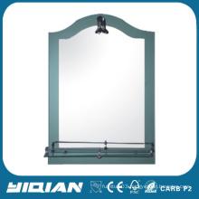 Salon Hotel Mirror with Tempered Glass Shelf Washroom Mirror High Quality Shower Mirror