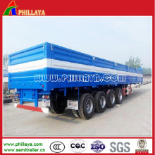 4axles 80ton Container Semi Trailer with Open Side Walls