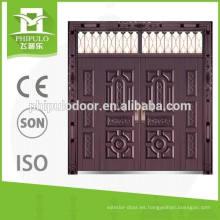 Puerta de imitación de cobre del chalet del estilo popular de la prueba del sol con la ventana superior
