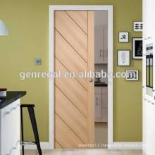 Wooden bedroom sliding pocket doors